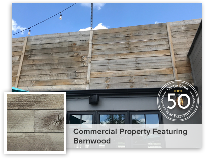 Commercial property featuring Barnwood