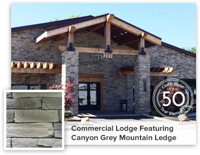 Commercial lodge featuring Canyon Grey Mountain Ledge